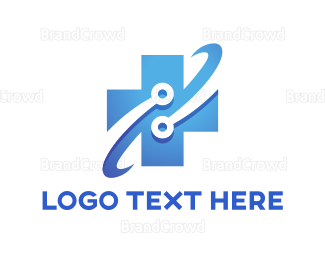 Hospital - Tech Cross logo design