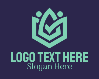 Modern - Polygon Flower People logo design