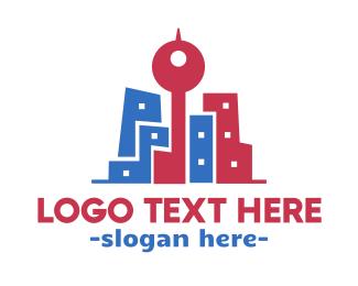 Skyline - Hipster City logo design
