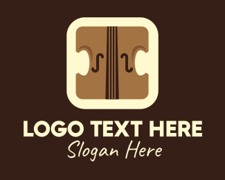 String Instrument - Violin Mobile Application logo design