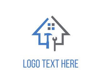 Building - House Tools logo design