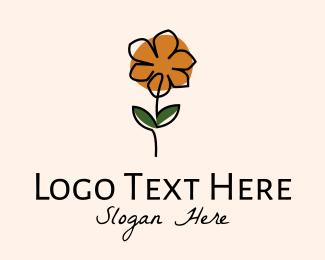 Floristry - Lilies Flower Line Art logo design