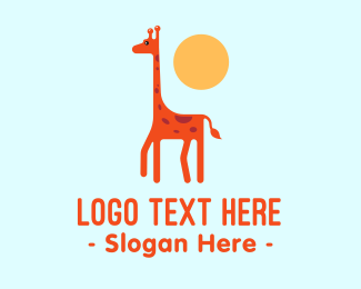 Brown Baby - Cute Giraffe logo design