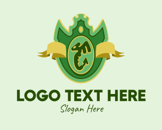 Coat Of Arms - Winged Serpent Emblem  logo design