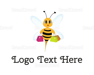 Dress Shop - Shopping Bee logo design