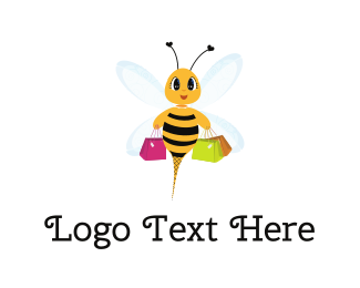 Coupon - Shopping Bee logo design