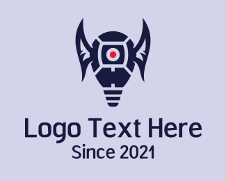 Dark - Winged Light Bulb logo design