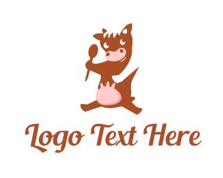 Hot Chocolate - Chocolate Cow logo design