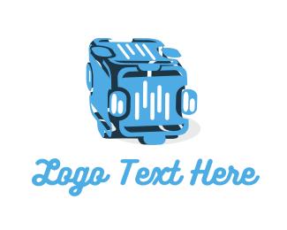 Speaker - music studio box logo design