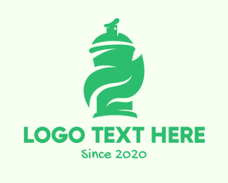 Art Supplies - Green Organic Spray Paint logo design