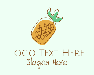 Fruit Store - Simple Pineapple Fruit logo design