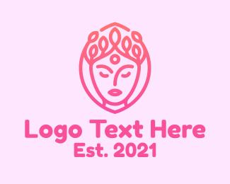 Beauty Clinic - Woman Beauty Face logo design