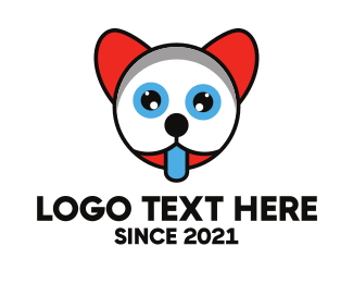 Tongue - Thirsty Baby Animal Kid logo design