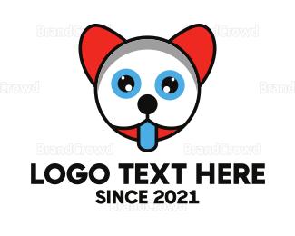Beige - Thirsty Kitten Outline logo design