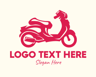 Motorcycle Dealer - Red Motorcycle logo design