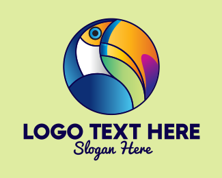 Toucan Bird - Colorful Toucan Bird logo design