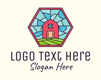 Farmland - Stained Glass Barn logo design