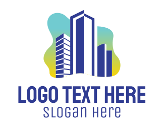 City Life - Bright City Building logo design