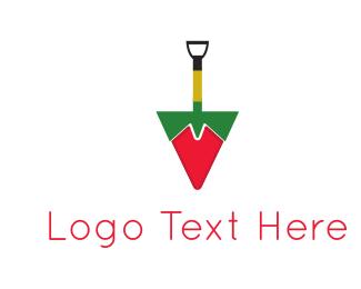 Chilli - Shovel Pepper logo design