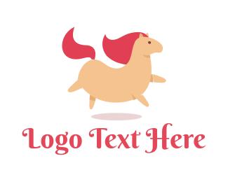Unicorn - Little Pink Pony logo design