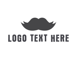 England - Black Moustache logo design