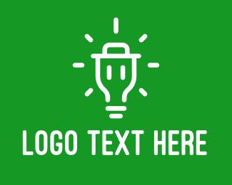 Innovate - Bright Light Trash logo design