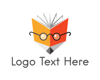 Orange Book - Nerd Fox Book logo design