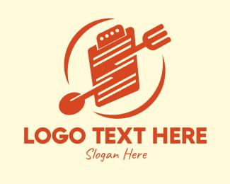 Diet - Meal Plan Clipboard logo design