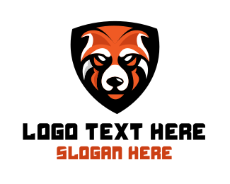 Carnivore - Orange Bear Mascot logo design