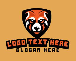Brand - Orange Bear Mascot logo design