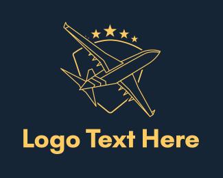 """Golden Shield Plane"" by brandcrowd"