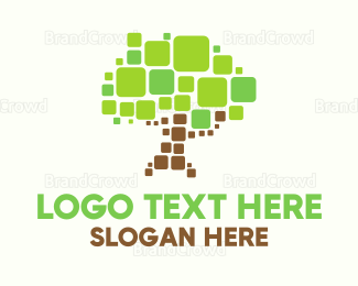 Pixel - Pixel Tree logo design