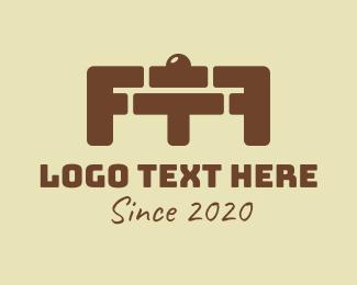 Gym - Brick Gym Barbell logo design
