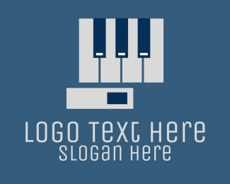 Piano Tuner - Entertainment Piano Hand logo design