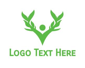 Person - Green Person logo design