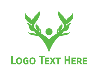 Person - Green Person logo design