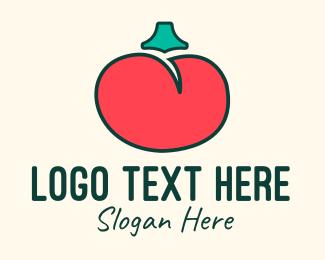 Tomato Sauce - Red Organic Tomato logo design