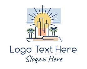Buildings - Palm City Buildings logo design