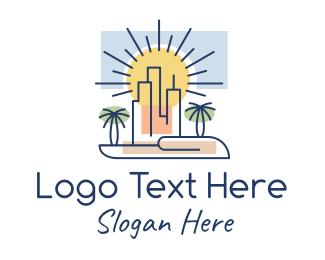 Palm - Palm City Buildings logo design