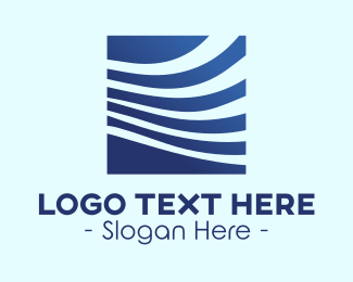Modern Company - Blue Professional Abstract Business  logo design