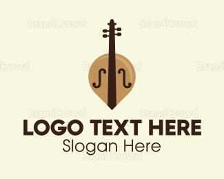 Symphony - Brown Cello logo design