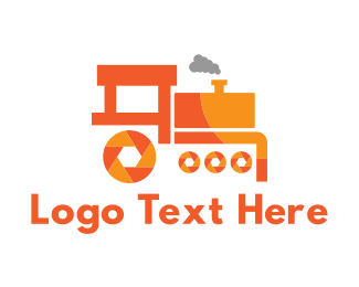 Orange Camera -  Shutter Train logo design