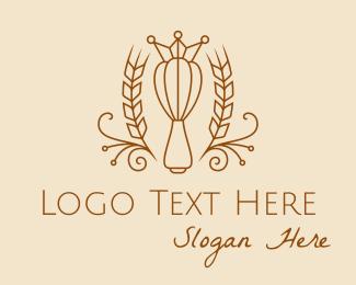 Boulangerie - Whisk Baking Crown  logo design