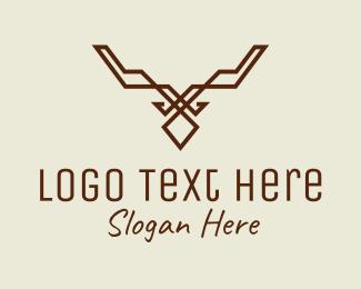 Impala - Simple Deer Line Art logo design