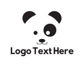 Nice - Cute Panda Kid logo design