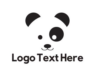 Kids - Cute Panda Kid logo design