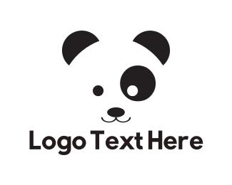 Panda - Cute Panda logo design