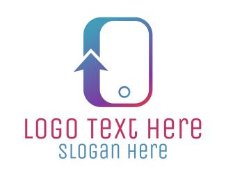 Telephone - Arrow Phone logo design