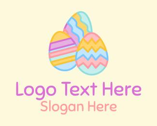 Decorated - Colorful Decorative Easter Eggs  logo design