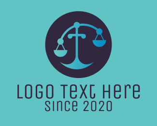Court - Legal Scale logo design